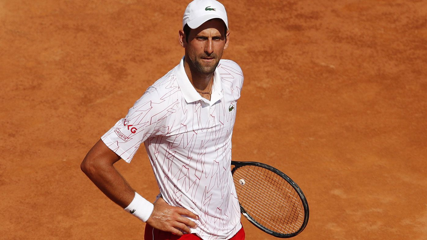 Novak Djokovic has curt exchange with umpire in tennis return at Italian Open