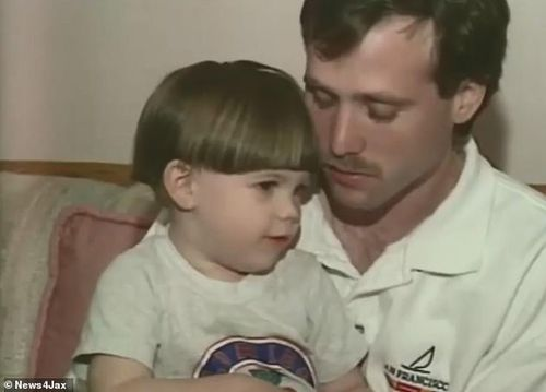 Michael Haim was interviewed in 1993 about his wife Bonnie's disappearance and told reporters his wife had left him and his young son Aaron.