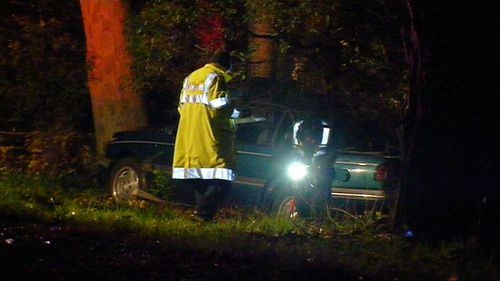 A man is dead after his car crashed into a tree on Victoria's Mornington Peninsula.