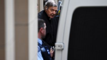George Pell departs the Supreme Court of Victoria today.