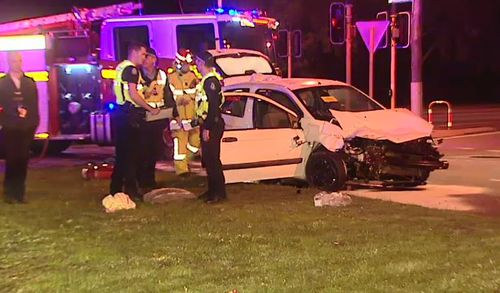 She has also been charged with no authority to drive. Picture: 9 News