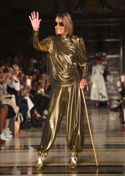 <p>The Italian actress and former Rolling Stone fixture Anita Pallenberg, 71, can still rock the runway.</p>