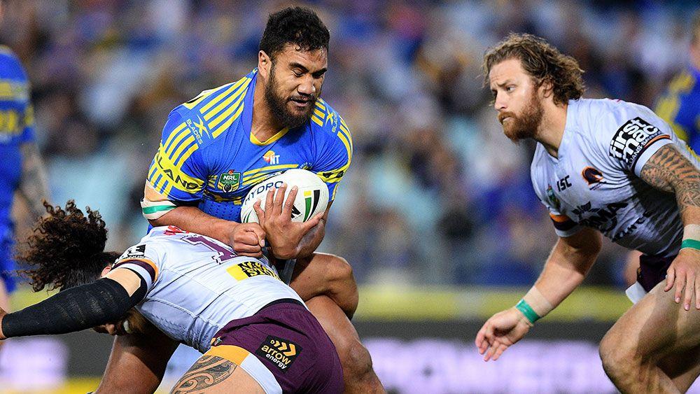 Parramatta's Peni Terepo in action against Brisbane. (AAP)