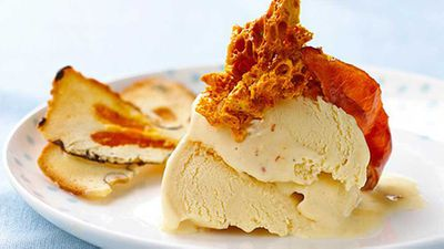 Candied bacon ice-cream