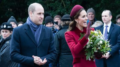 The couples spent time at the Sandringham home following the birth of Prince George.