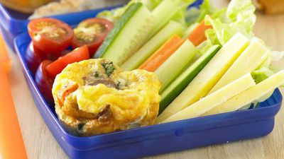 "Recipe:&nbsp;<a href=""http://kitchen.nine.com.au/2016/05/18/02/01/mini-vegetable-frittatas"" target=""_top"">Mini vegetable frittatas</a>"