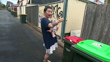 An Ashfield woman was taking the bins out when she was attacked.