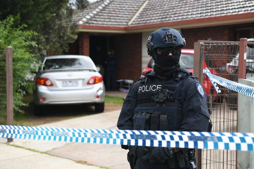 Raids are underway at two western Melbourne properties after the Bourke street attack.