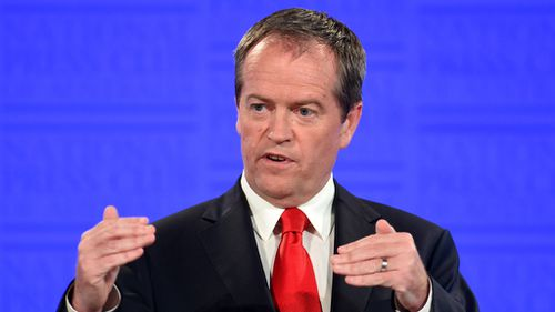 Labor leader Bill Shorten speaking at the National Press Club in Canberra. (AAP)