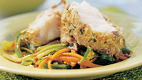 Cheese-crumbed fish fillets