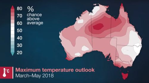 Warmer-than-average conditions are on the cards this autumn. (Bureau of Meteorology)