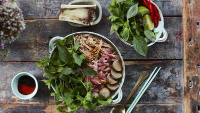 The Little Viet Kitchen's beef pho southern style (Phở Bò Miền Nam)