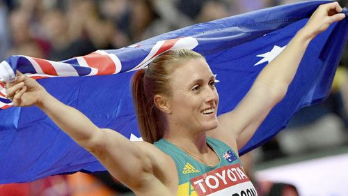 Hurdler Sally Pearson was the favourite to be named flagbearer. (AAP)