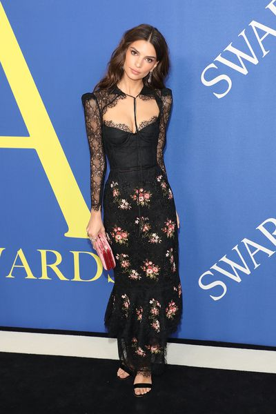 Emily Ratajkowski attends the 2018 CFDA Fashion Awards at Brooklyn Museum on June 4, 2018 in New York City.