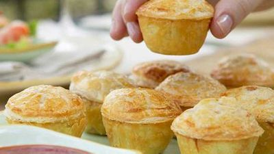 """<strong>Recipe: <a href=""""http://kitchen.nine.com.au/2016/05/17/22/33/mini-beef-and-beer-pies"""" target=""""_top"""">Mini beef and beer pies</a></strong>"""