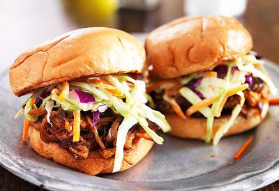 Tomato and chipotle pork sliders