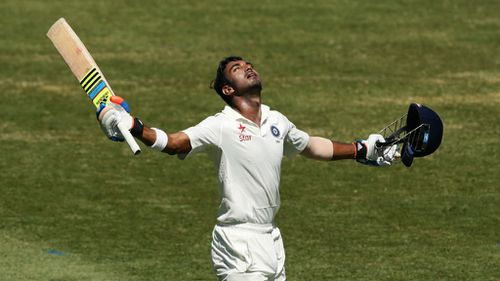 KL Rahul later hit his first Test ton. (Getty)