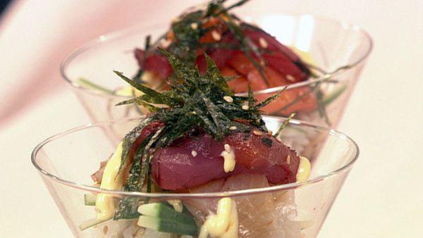 Bimbimbap sushi