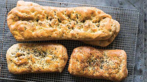 Tahini and thyme flatbread