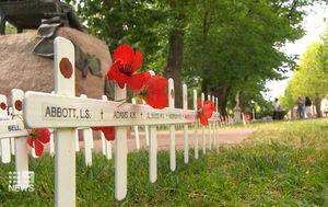 Three arrested after war memorial vandalised in Adelaide