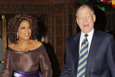 "It's the feud Oprah claims she never noticed. While hosting the Oscars in 1995, David Letterman spent much of the ceremony repeating, ""Uma, Oprah. Oprah, Uma."" While Oprah claims she thought it was funny (it wasn't), Letterman assumed Oprah was annoyed by the joke. She then reportedly refused to appear on Letterman's <i>The Late Show</i> for 16 years (""16 and a half,"" she corrects). In 2005, she broke her boycott and jokingly presented Letterman with a framed (and signed) photograph of herself and Uma Thurman to mark the end of their ""feud""."
