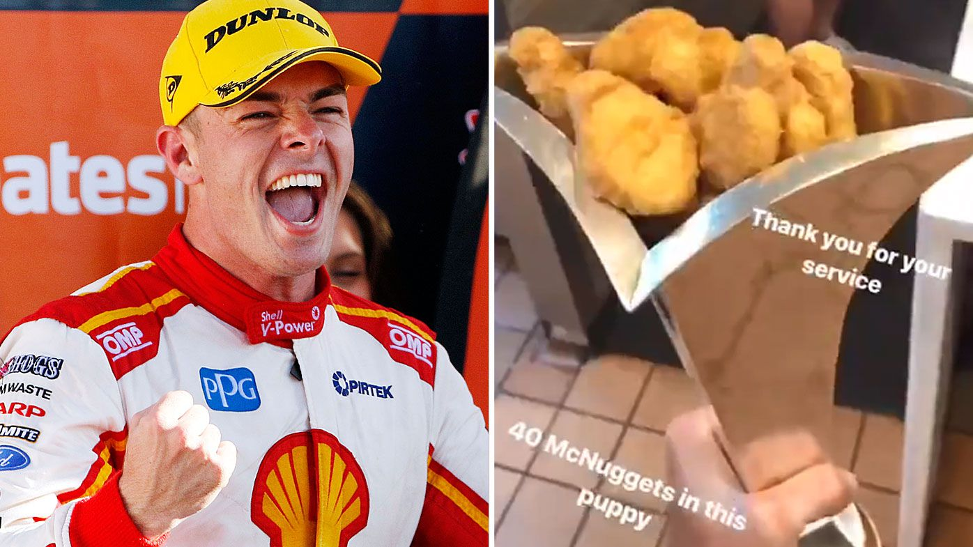 Scott McLaughlin fills Supercars trophy with McNuggets after victory