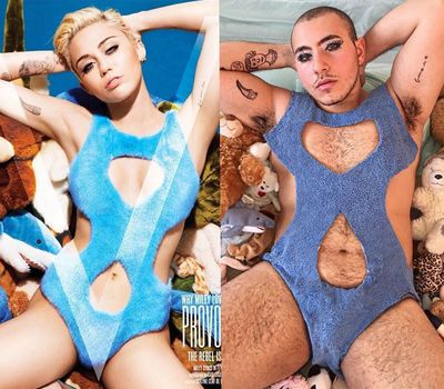 "<p>""How fierce is my new towel bathing suit? @mileycyrus""</p>"