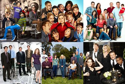<i>The Big Bang Theory</i><br/><br/><i>Glee</i><br/><br/><i>Modern Family</i><br/><br/><i>The Office</i><br/><br/><i>Parks and Recreation</i><br/><br/><i>30 Rock</i>