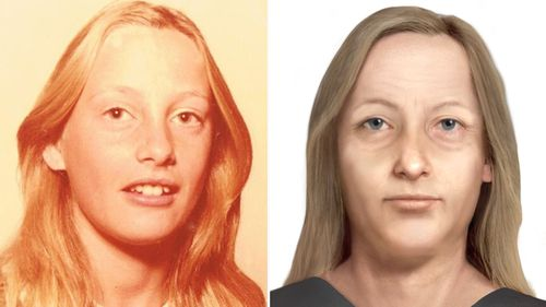 Elaine was only placed on a missing persons poster for the first time and age progression photo completed last year - 38 years after her disappearance.