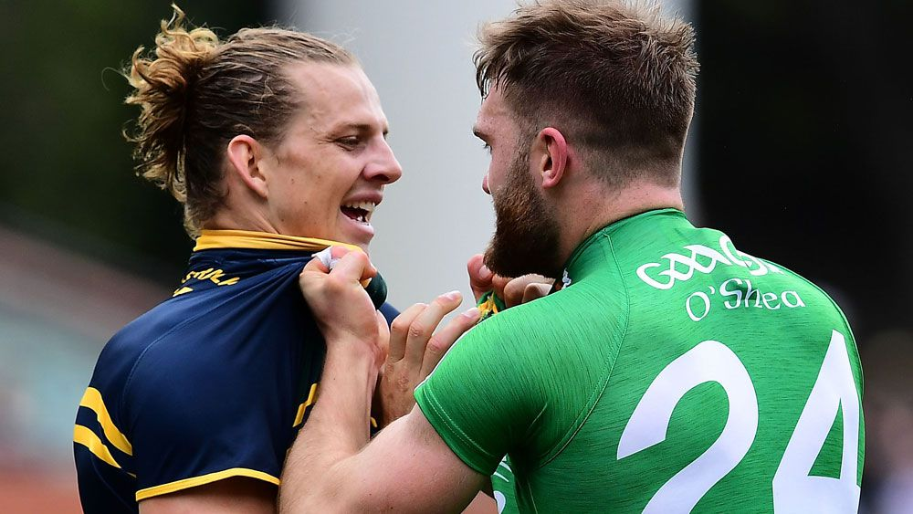 AFL stars hurt in International Rules Series win over Ireland while Nat Fyfe shines