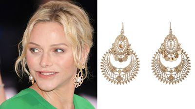 Princess Charlene's statement earrings
