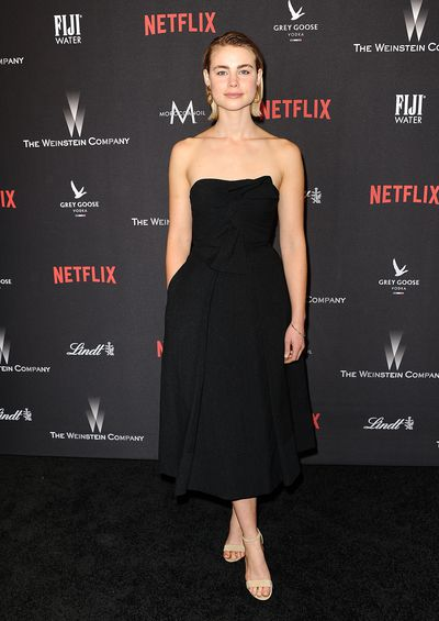 Lucy Fry at the 2017 Weinstein Company and Netflix Golden Globes after-party in Los Angeles in January, 2017