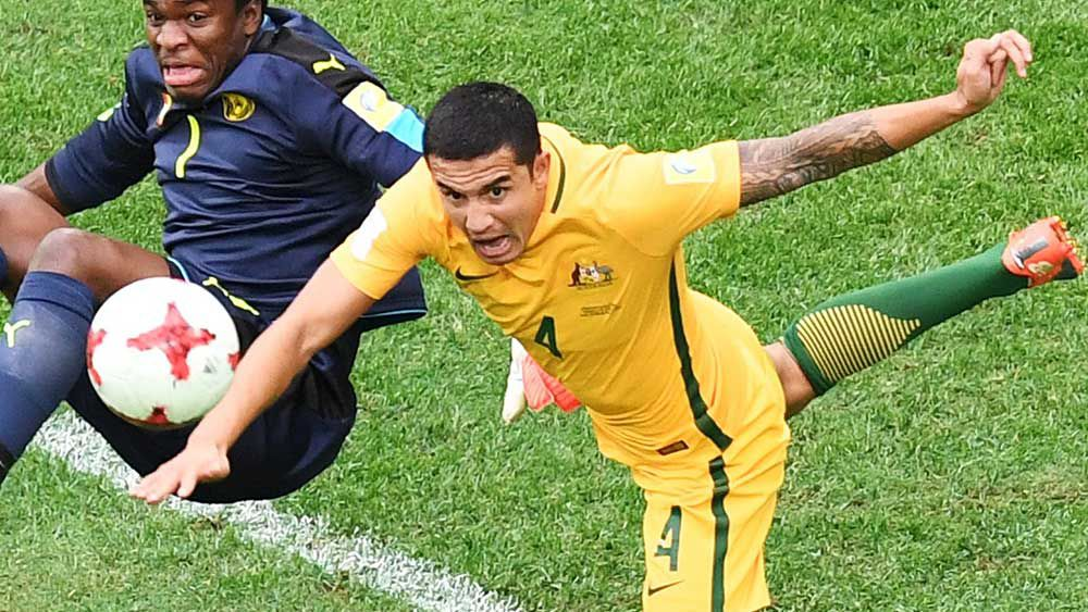 Tim Cahill is set to reach 100 caps against Chile. (AAP)