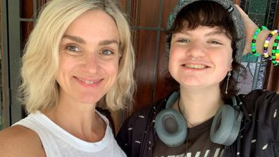 Carolyn Tate and her transgender son.