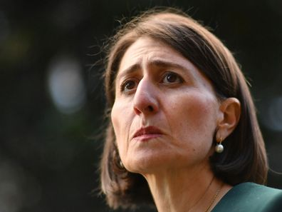 Gladys Berejiklian after the ICAC hearing today.
