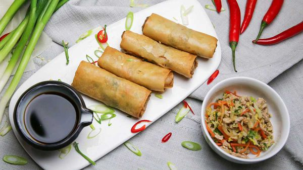 The Pluchinotta's Pork Spring Rolls