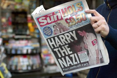 A badly-thought-out Halloween costume in 2005 sent the tabloids into a tizz. Prince Charles' team apologised on Harry's behalf.<br/>