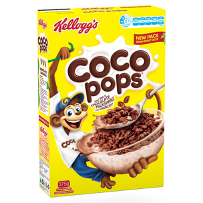 <strong>Coco Pops (36.5 grams of sugar per 100 grams)</strong>