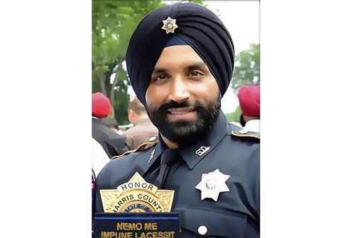 Dhaliwal, who was slain on Friday, Sept. 27 was the first Sikh deputy on the force. (Harris County Sheriff's Office via AP)