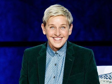 "American comedian Ellen DeGeneres speaks on stage during ""A Conversation With Ellen DeGeneres"" at Rogers Arena on October 19, 2018 in Vancouver, Canada."