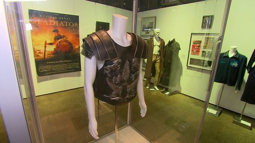 The stunt armour won by Crowe as Maximus in Gladiator. (9NEWS)