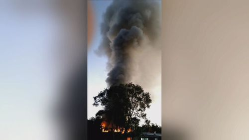 Locals have told authorities they smelt fuel and heard strange noises as the flames gutted the home.