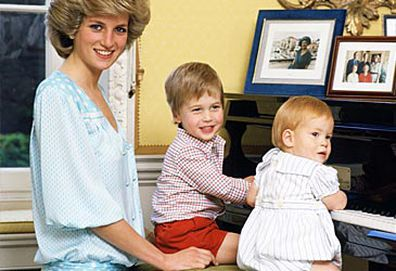Princess Diana, Prince William and Prince Harry (Getty)