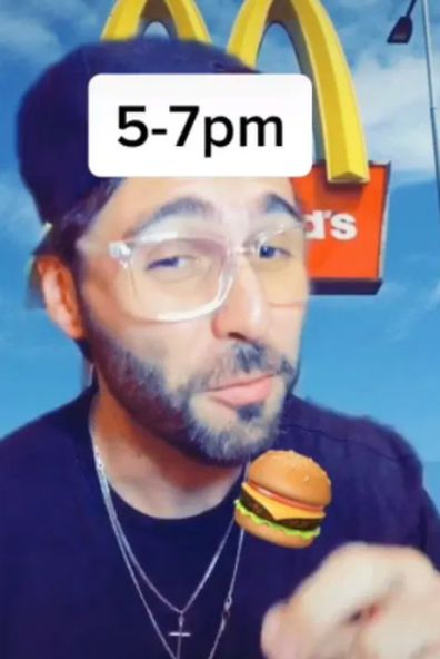 A Maccas fan claims there are key times to visit for the best burger.