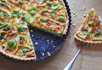 Camembert picnic quiche