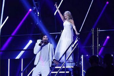 @thevoiceau: Oh Johnny, can't get your outta our heads! Who loved that performance? #TheVoiceAu #VoiceFinale #TheVoice #TeamKylie #KylieMinogue #CantGetYouOutOfMyHead<br/>