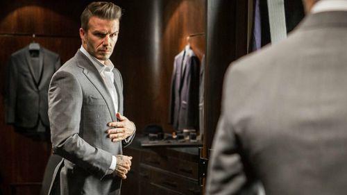 David Beckham is among the well-heeled to shop on Savile Row.