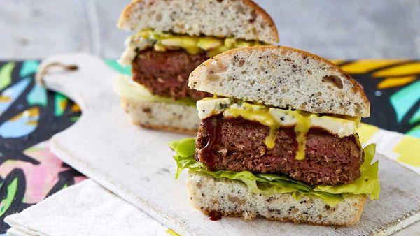 Chur Burger's beef and blue burger
