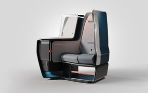 For business class seats, an airy, spacious future is being designed