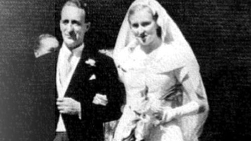 Reg Hamlin and Catherine on their wedding day.